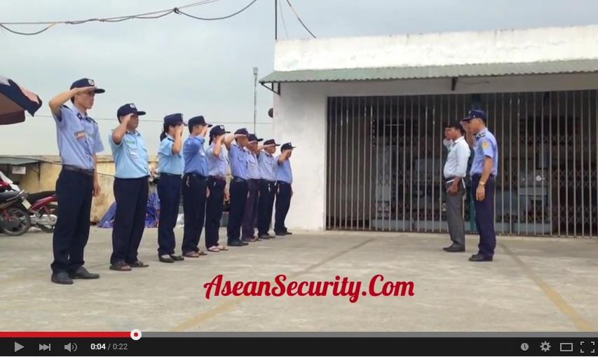 Bảo vệ asean tập huấn chào điều lệnh