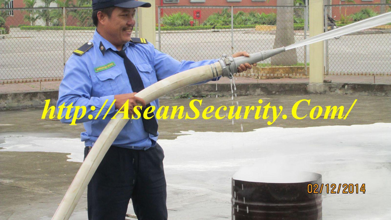 Bảo vệ ASEAN tập huấn PCCC
