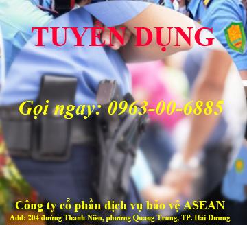 bảo vệ asean tuyển dụng