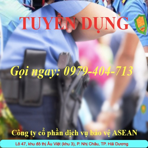 Tuyển 10 bảo vệ làm việc tại KCN Nam Sách