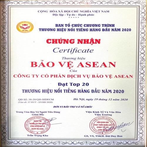 Bảo vệ ASEAN - Top 20 thương hiệu hàng đầu 2020